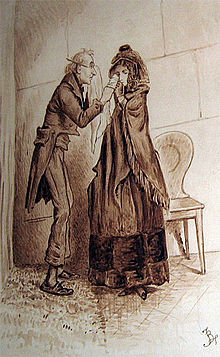 Newman Noggs and Kate Nickleby