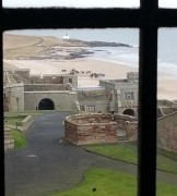 Macbeth goes for a ride on the beach photo courtesy of Bamburgh Castle